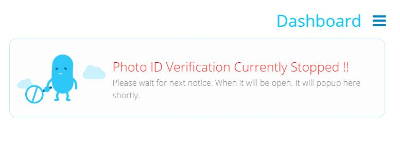 verification stoped
