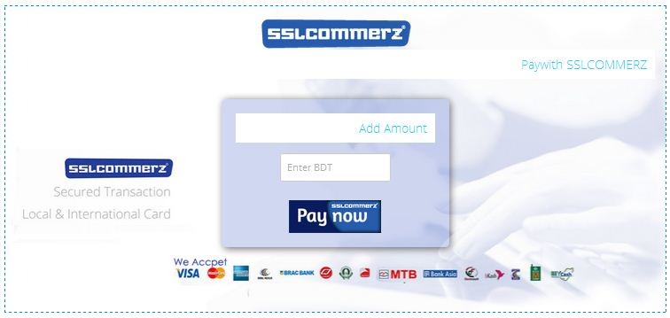 Add fund in Belancer Wallet using SSLCOMMERZ