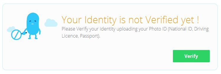 ID verification on Belancer